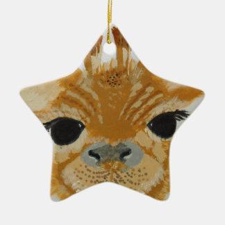 Girafa de travamento do design do olho moderno na ornamento de cerâmica