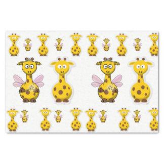 Girafa decorativo do amarelo do lenço de papel