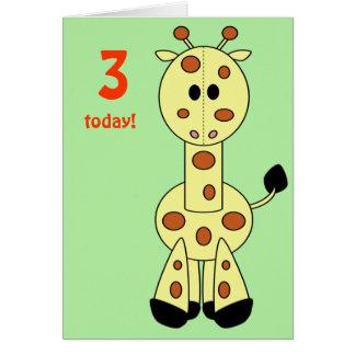 Girafa do amigo dos retalhos cartões
