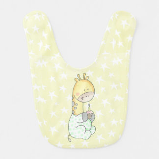 Girafa do bebê com o babador do bebê do cupcake