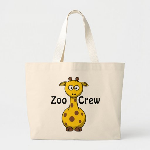 Girafa do grupo do jardim zoológico bolsas para compras