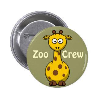 Girafa do grupo do jardim zoológico bóton redondo 5.08cm
