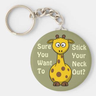 Girafa do grupo do jardim zoológico chaveiro