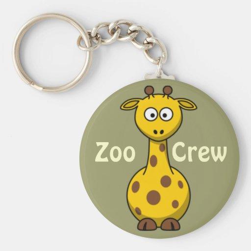 Girafa do grupo do jardim zoológico chaveiros