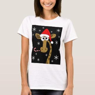 Girafa do Natal Camiseta
