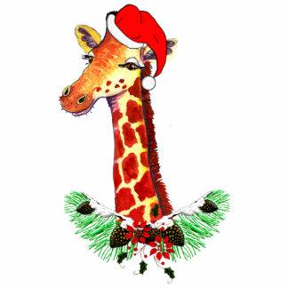 Girafa do Natal Escultura Fotos