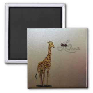 Girafa do ouro ímã quadrado