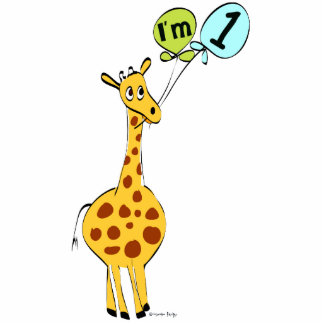Girafa do primeiro aniversario com balões escultura de fotos