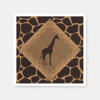 Girafa do tema do safari guardanapo de papel