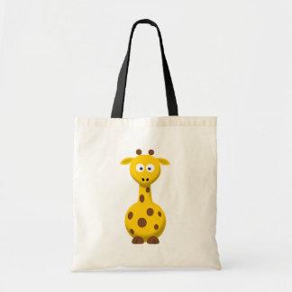 Girafa dos desenhos animados bolsa para compras