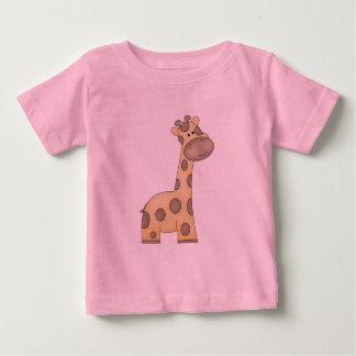 Girafa dos desenhos animados camiseta para bebê