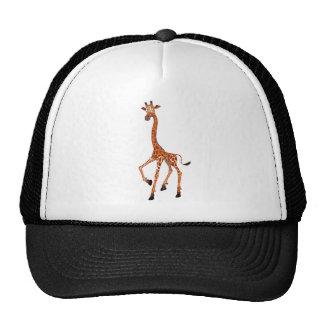 Girafa dos desenhos animados bonés