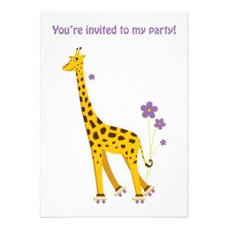 Girafa engraçado convites personalizados
