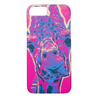 Girafa engraçado que cola para fora sua língua capa iPhone 7