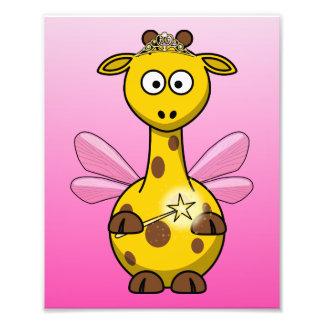 Girafa feericamente com fundo cor-de-rosa foto artes