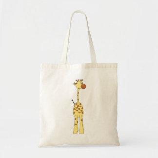 Girafa feliz. Desenhos animados Bolsa Para Compras