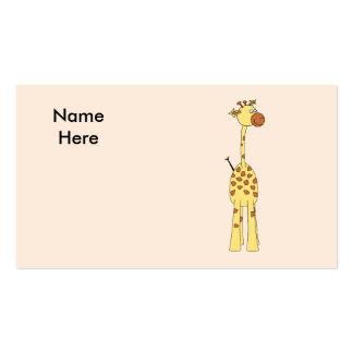 Girafa feliz. Desenhos animados Cartão De Visita
