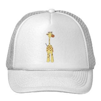 Girafa feliz. Desenhos animados Bonés