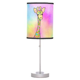 Girafa no arco-íris luminária
