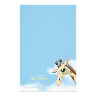 Girafa no papel de nota de Personalizable das Papelaria