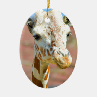 Girafa Ornamento De Cerâmica