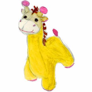 girafa pequeno foto escultura
