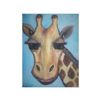 Girafa pintado em canvas