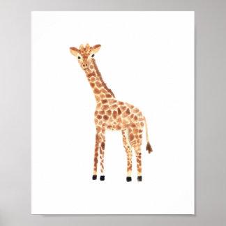 Girafa Pôster