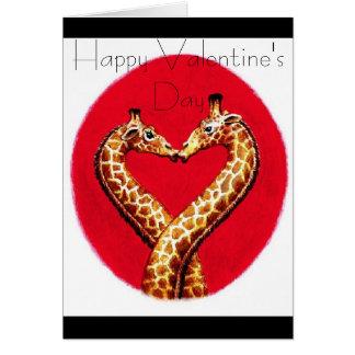 Girafa romântico cartão comemorativo