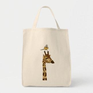 Girafa & saco pequeno do pássaro bolsas