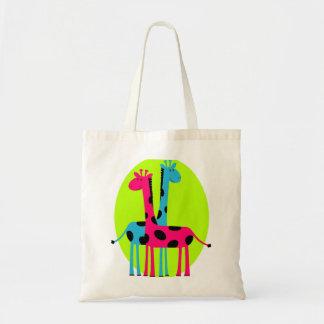 Girafas adoráveis dos desenhos animados bolsas