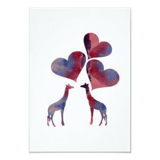 Girafas da arte convite 8.89 x 12.7cm