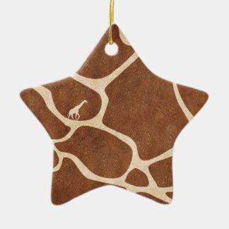 Girafas! design animal exótico do impressão! ornamentos
