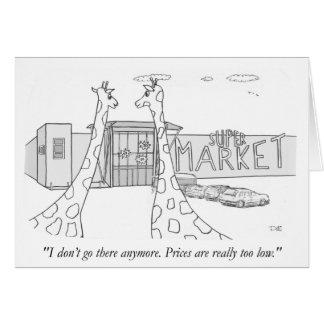 Girafas e baixos preços cartão comemorativo