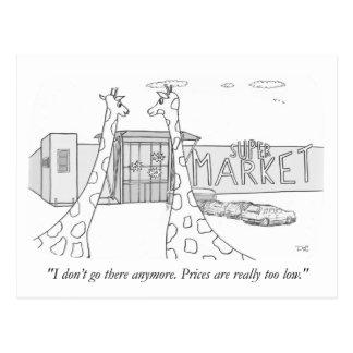 Girafas e baixos preços cartão postal
