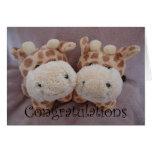 girafas gêmeos cartao