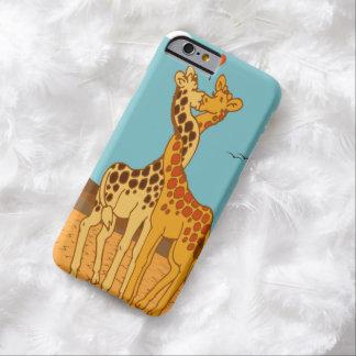 Girafas no caso do iPhone 6 do amor Capa Barely There Para iPhone 6