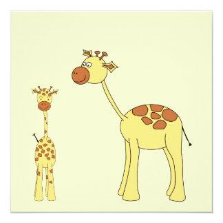 Giraffe. do bebê e do adulto convite
