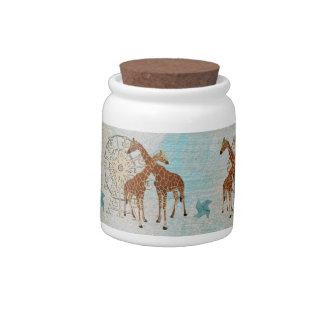 Giraffes Carnival  Cookie Jar Candy Jars