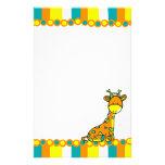 Girafffe lunático papéis personalizados