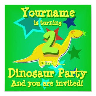 Girando 2 convites de festas do dinossauro do