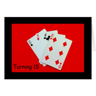 Girar 15 é uma grande coisa! cartão