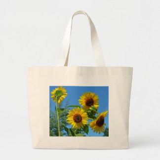 Girassóis amarelos bonitos bolsa para compras