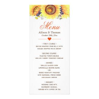 Girassóis amarelos brilhantes que Wedding o menu