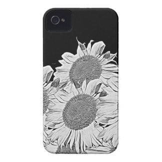 Girassóis de Black&White Capa Para iPhone 4 Case-Mate