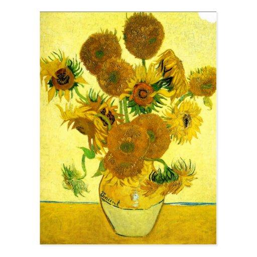Girassóis de Van Gogh Cartão Postal