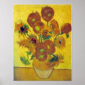 Girassóis de Van Gogh Poster