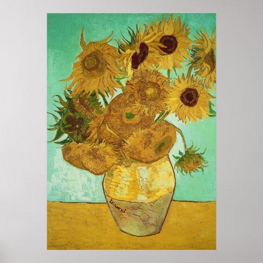 Girassóis de Vincent van Gogh |, 1888 Poster