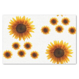 Girassóis decorativos do lenço de papel