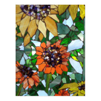 Girassóis do mosaico cartão postal
